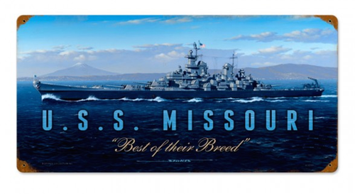 """USS  MISSOURI""  METAL  SIGN"