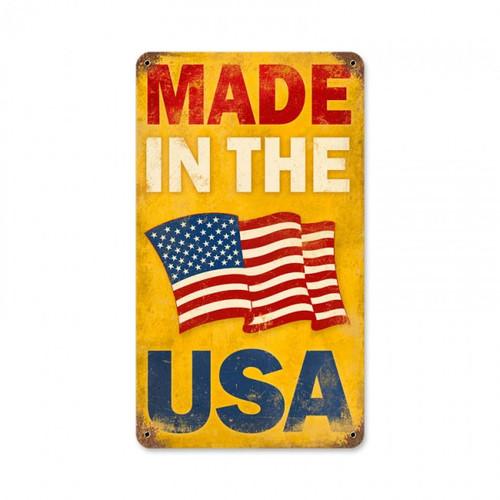 """USA-MADE""  METAL  SIGN"