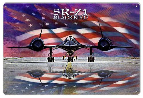 """SR-71 BLACKBIRD""  METAL SIGN"