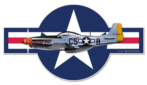 """P-51 Mustang""  Metal  Wall  Art"