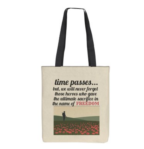 """FIELDS OF POPPIES"" MEMORY TOTE BAG"