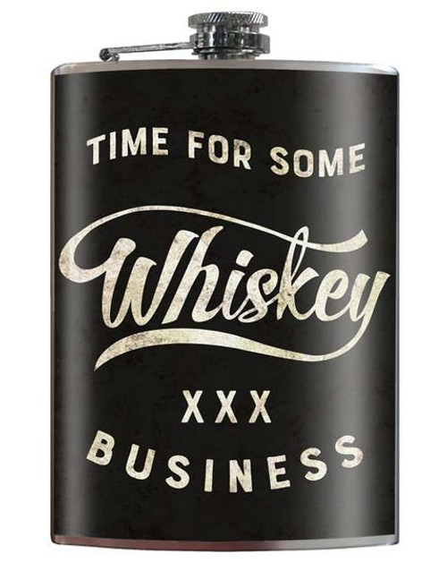 "'WHISKEY  BUSINESS""  FLASK"