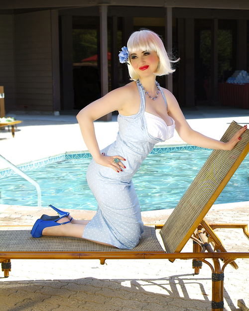 Lounging By Pool Pin-Up