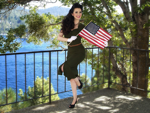 Patriotic Pin-Up By Lake