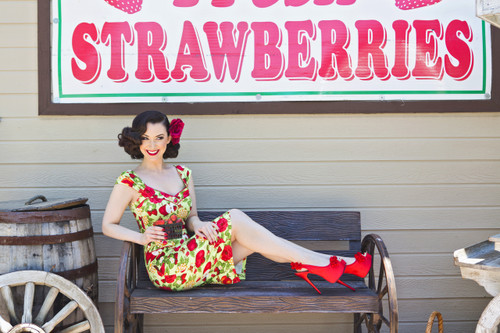 Strawberries Pin-Up
