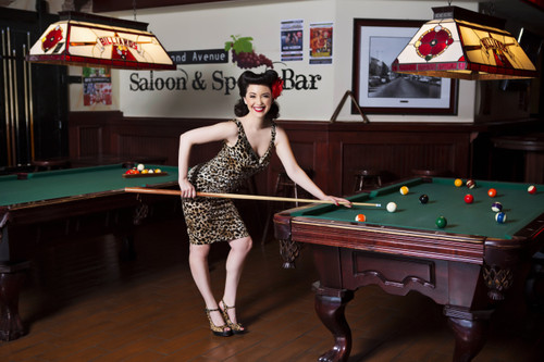 Pool Hall Pin-Up Poster