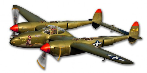 """P-38 Lighting""  Metal  Cutout"