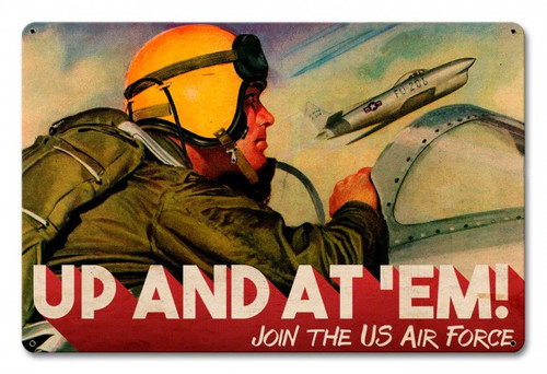 """""""AIR FORCE"""" VINTAGE RECRUITMENT METAL SIGN"""