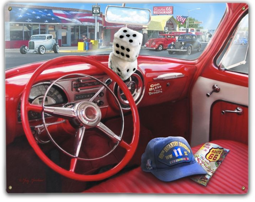 """""""ROUTE 66--DASHBOARD""""  METAL  SIGN"""
