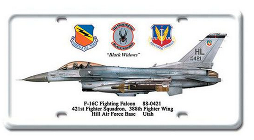 """""""F-16C Fighting Falcon""""  METAL LICENSE PLATE  OR  WALL ART"""