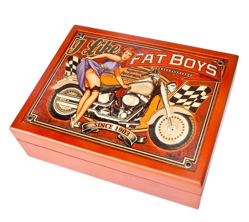 """""""Fatboys-- 6"""" x 8"""" Mahogany   Box"""""""