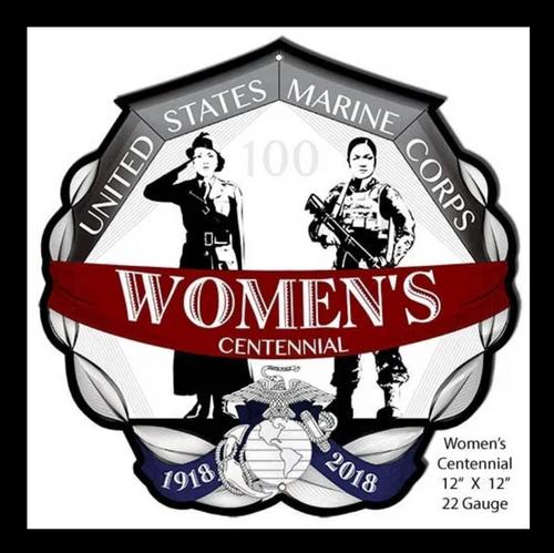 USMC WOMENS CENTENNIAL-- 100 YEARS OF SERVICE-- METAL CUT OUT-- 12″X12″