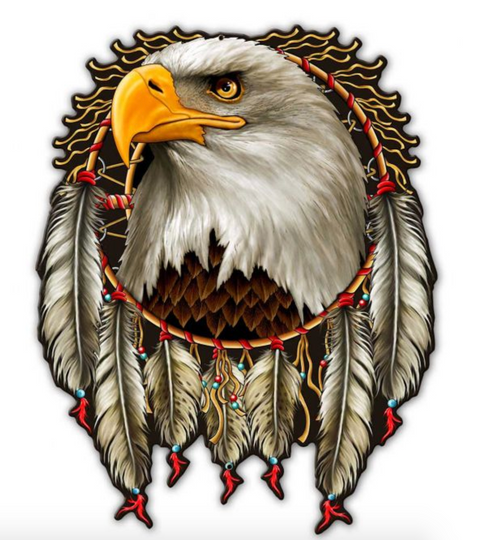 EAGLE AND DREAM CATCHER  METAL  WALL ART