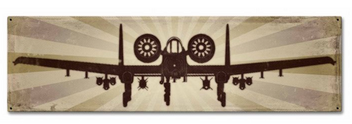 A10A Thunderbolt II---VINTAGE STYLE METAL SIGN