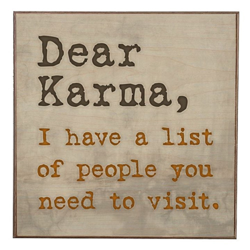 DEAR  KARMA ------------------ BIRCH WOOD PRINT
