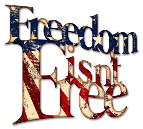 """""""FREEDOM  ISN'T  FREE"""" ---LASER-CUT METAL WALL ART"""
