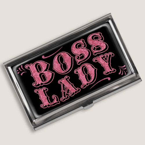 """BOSS LADY""  MIRROR COMPACT   OR   BUSINESS / CREDIT  CARD HOLDER"