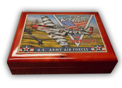 U.S. ARMY AIR FORCES --MAHOGANY WOOD BOX