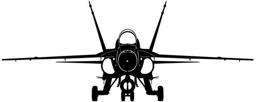 F/A-18 Hornet  Steel Cut-Out