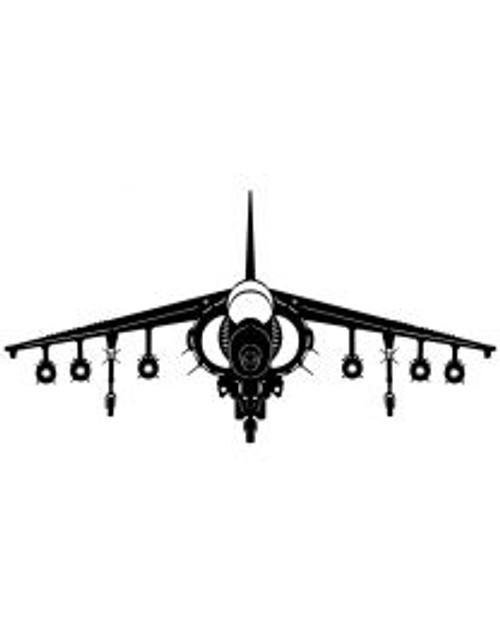 Harrier Plane Steel Cut-Out
