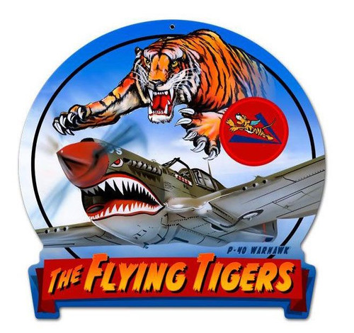 """Flying Tiger""--- Metal Sign"