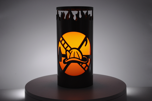 Firefighter - Metal Candle Holder Luminary