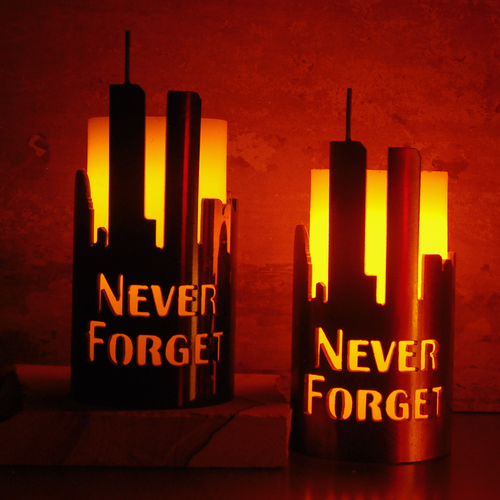 Never Forget Candle Holder Luminary