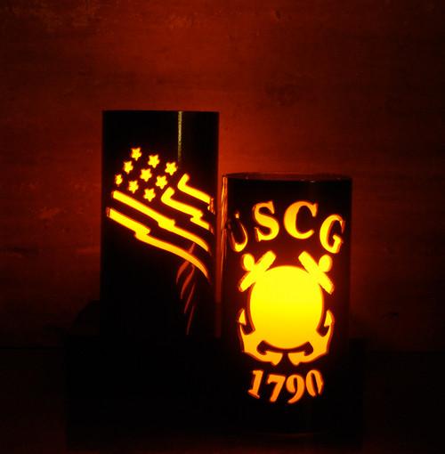 USCG Metal Candle Holder Luminary