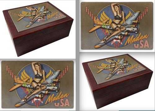 """MADEN USA MAHOGANY BOX ---6"""" X 8"""""""
