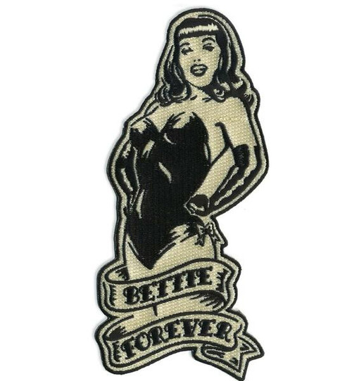 """""""Bettie Page Forever"""" patch"""