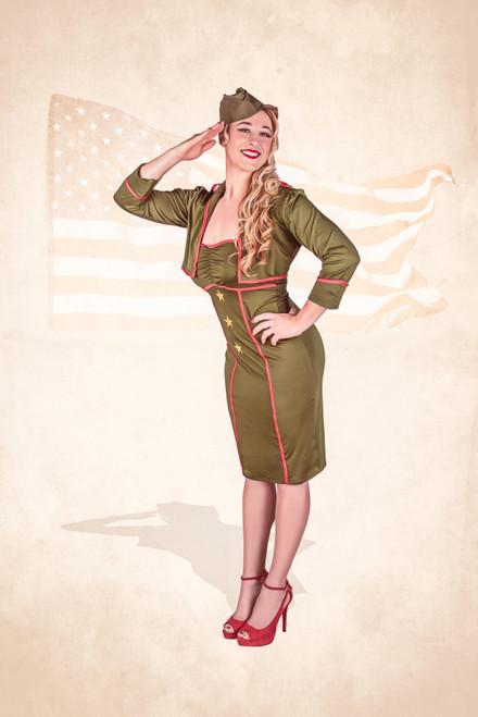"""Erikka Salutes Our Veterans""  Poster"