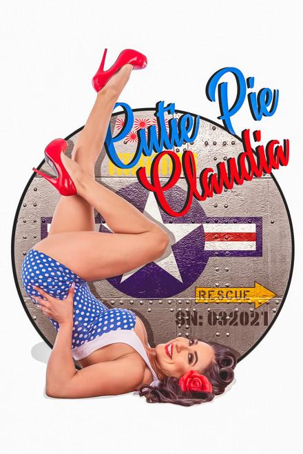 """""""Cutie Pie Claudia""""  Poster"""