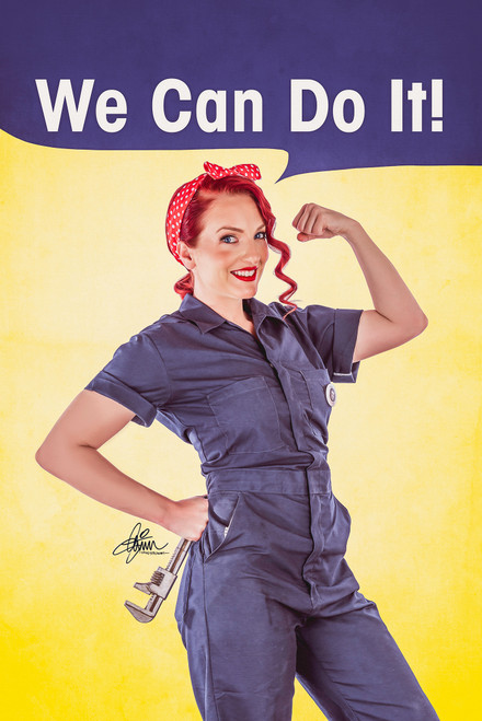We Can Do It Pin-Up Poster