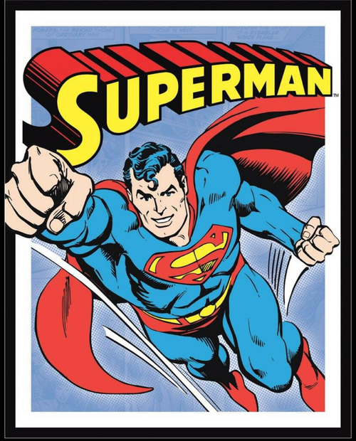 SUPERMAN ---METAL  SIGN