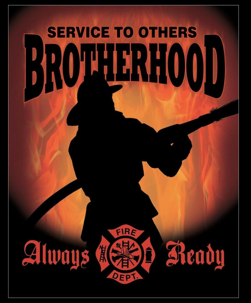 FIREFIGHTERS  BROTHERHOOD---METAL SIGN