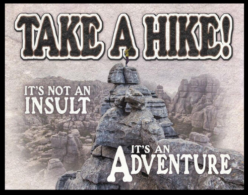 TAKE  A  HIKE  ---------------------METAL  SIGN