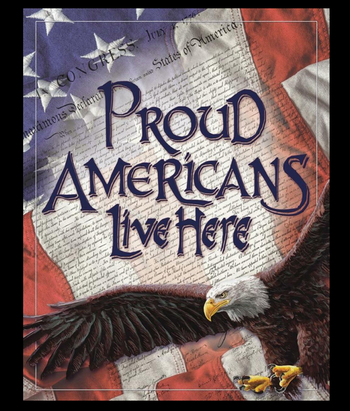 PROUD  AMERICANS-----METAL SIGN