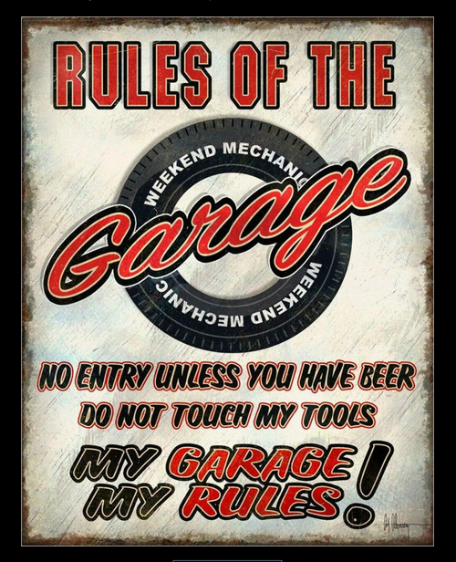 MY GARAGE RULES---METAL  SIGN