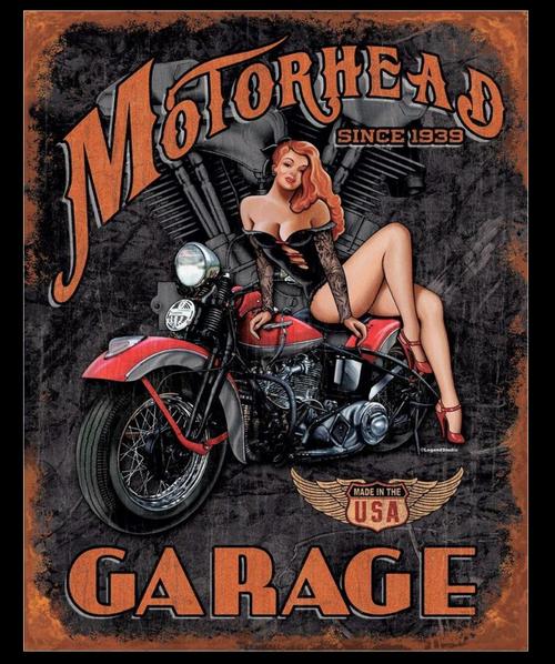 MOTORHEAD  GARAGE------------------------------METAL SIGN