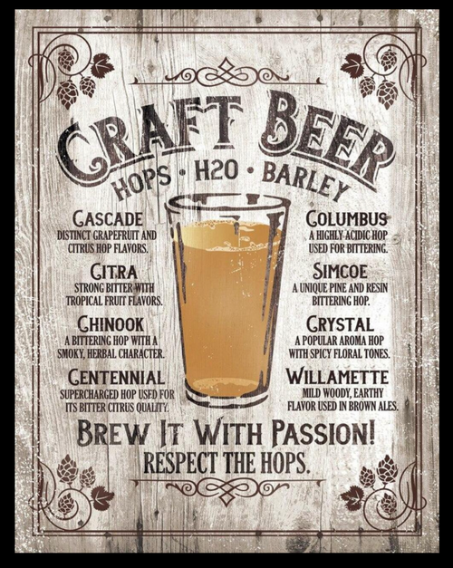 BREW  IT  WITH  PASSION ----METAL  SIGN