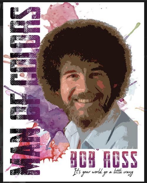 ARTIST  BOB  ROSS----METAL SIGN
