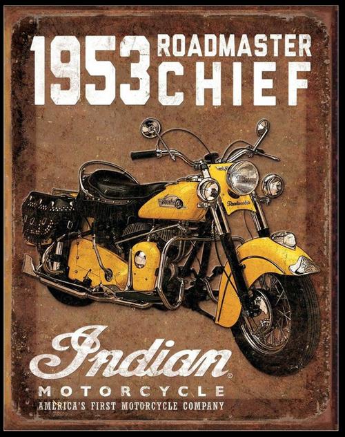 1953  INDIAN  ROADMASTER----METAL  SIGN