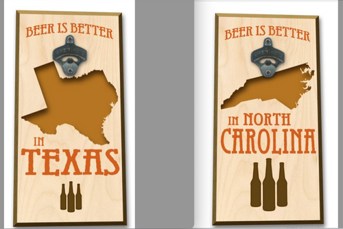 """THE  BEER  IS  BETTER  IN  """"YOUR STATE"""" --------------BOTTLE OPENER"""