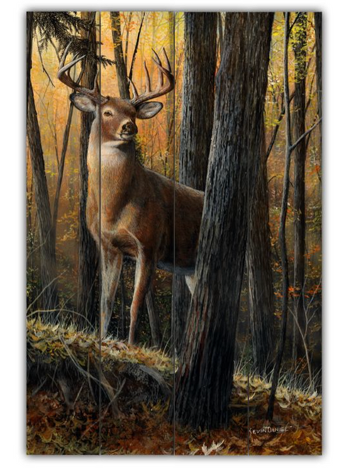 """""""AUTUMN   KING"""".     ----------------------PLANKED WOOD WALL ART"""