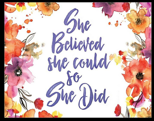 SHE  BELIEVED  - SO SHE  DID-----METAL SIGN