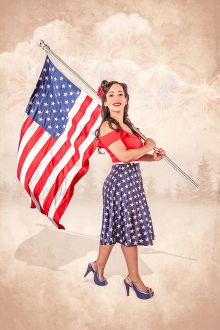 American Dream Pin-Up Vanessa Poster