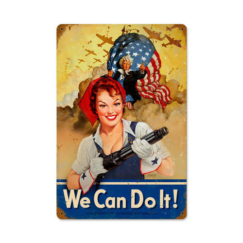 """""""WE  CAN  DO  IT""""  METAL SIGN"""