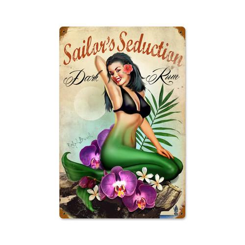 """""""SAILOR'S  SEDUCTION""""  VINTAGE METAL SIGN"""
