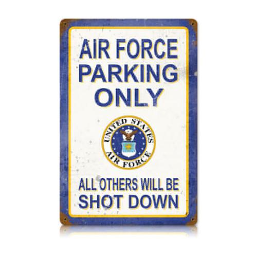 """AIR FORCE PARKING""  VINTAGE METAL SIGN"