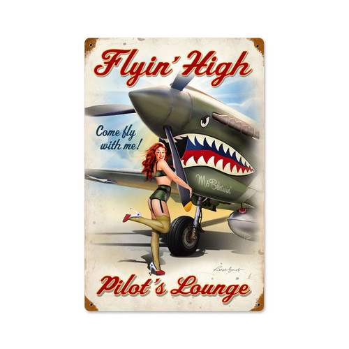 """FLYING  HIGH ""  METAL SIGN"